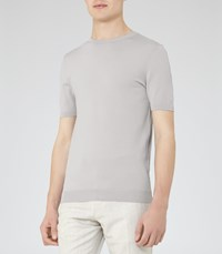 Reiss Amalfi Mens Knitted T Shirt In Grey