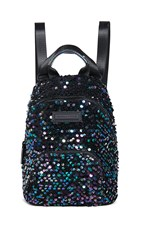 Kendall Kylie Lucy Mini Backpack Black Iridescent