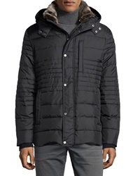 Marc New York By Andrew Marc Damien Hooded Down Puffer Coat Black