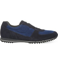 Car Shoe Suede Running Trainers Navy