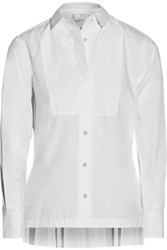 Sacai Pleated Poplin Shirt White
