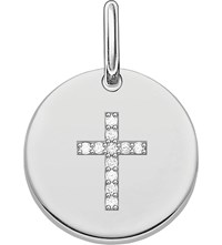 Thomas Sabo Love Sterling Silver Engravable Cross Pendant