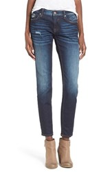 Junior Women's Vigoss Distressed Skinny Jeans Dark