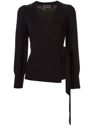 Ginger And Smart Avid Wrap Knit Top Black