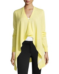 Lafayette 148 New York Long Sleeve V Neck Convertible Cardigan Women's