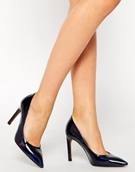 Whistles Cornel Heeled Court Shoes Navy
