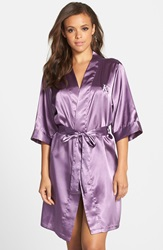 Cathys Concepts Personalized Satin Robe Purple K