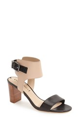 Women's Via Spiga 'Wiley' Block Heel Sandal Black Cappuccino