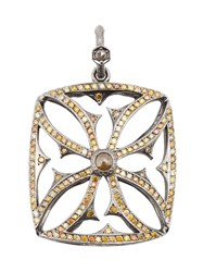 Loree Rodkin Giant Maltese Cross Diamond Pendant Metallic