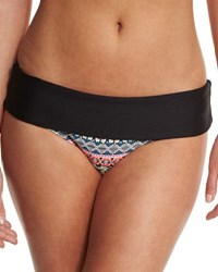 Next Find Your Chi Retro Banded Swim Bottom Black
