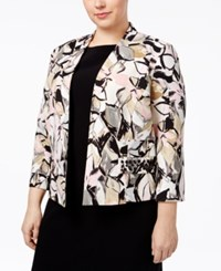Kasper Plus Size Beaded Blazer Tutu Pink Multi