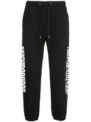 Neighborhood Side Logo Print Track Pants Black