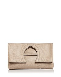 Etienne Aigner Bombe A Leather Clutch Taupe