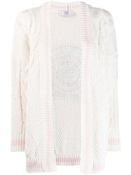 Mr And Mrs Italy Chunky Knit Cardigan White