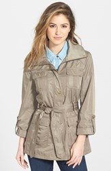 Ellen Tracy Women's Techno Short Trench Coat Basil