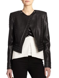 Bcbgmaxazria Alec Faux Leather Jacket Black