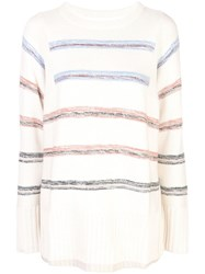 Apiece Apart Striped Knitted Jumper White