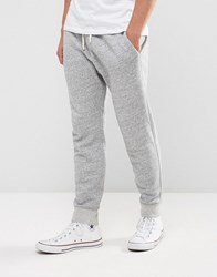 Abercrombie And Fitch Cuffed Joggers Core Slim Fit In Light Grey Light Grey
