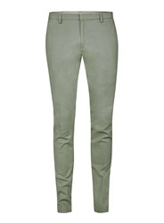Topman Seagrass Green Twill Cotton Ultra Skinny Fit Dress Pants