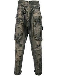 Faith Connexion Washed Out Bow Front Jeans Brown