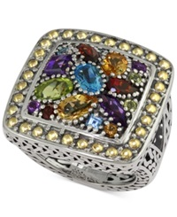 Effy Collection Balissima By Effy Multi Stone Ring In 18K Yellow Gold And Sterling Silver 3 1 4 Ct. T.W.