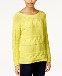 Bar Iii Long Sleeve Cable Knit Sweater Only At Macy's
