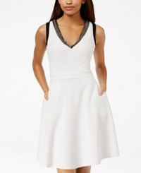 Xoxo Juniors' Embellished Contrast Fit And Flare Dress