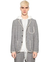 08 Sircus Houndstooth Cotton And Linen Blazer