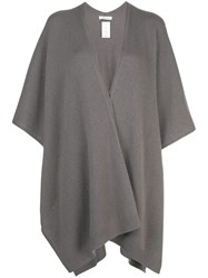 The Row Oversized Knitted Cape Grey