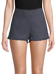 Lucca Couture Melissa Fringed Shorts Navy