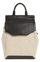 Rag And Bone Pilot Ii Leather Canvas Backpack Beige Natural Canvas