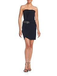 The Kooples Strapless Sweetheart Dress Navy