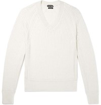 Tom Ford Cashmere And Silk Blend Sweater Cream