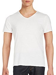V Room Solid Cotton Tee White