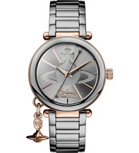 Vivienne Westwood Vv067slti Kensington Rose Gold Plated And Gunmetal Stainless Steel Bracelet