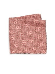 Saks Fifth Avenue Double Faced Pocket Square Brown Multicolor