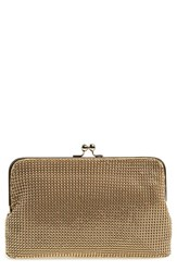 Whiting And Davis Mesh Clutch Metallic Gold