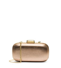 Michael Kors Elsie Leather Dome Clutch Pale Gold