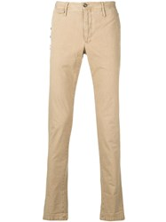 Pt01 Slim Chino Trousers Neutrals