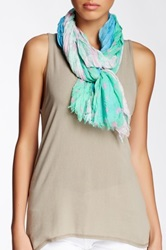 Blue Pacific Vintage Washed Tri Fold Silk Blend Scarf Green
