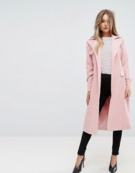 Prettylittlething Belted Mac Light Pink