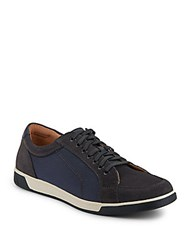 Cole Haan Quincy Sport Mixed Media Sneakers Blazer Blue