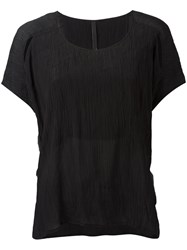 Barbara I Gongini Crumpled Effect T Shirt Black