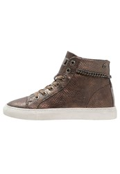 Replay Dunde Hightop Trainers Bronze Copper