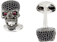 Deakin And Francis Skull Cufflinks With Pop Out Eyes Black