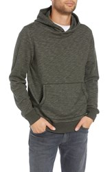 Treasure And Bond Regular Fit French Terry Pullover Hoodie Olive Dark Heather