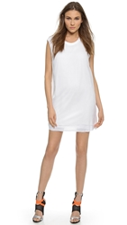 Blk Dnm Silk Layered Dress 82 White