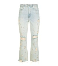 Alexander Wang Grind Distressed Jeans Female Blue