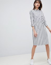 Selected Femme Stripe Wrap Shirt Dress Multi