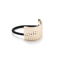 J.Crew Curved Perforated Hair Band Metallic Gold